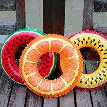 Детское надувное кольцо для купания с принтом арбуза лимона, круг для купания, аксессуары для бассейна, плавающее кольцо, От 2 до 5 лет