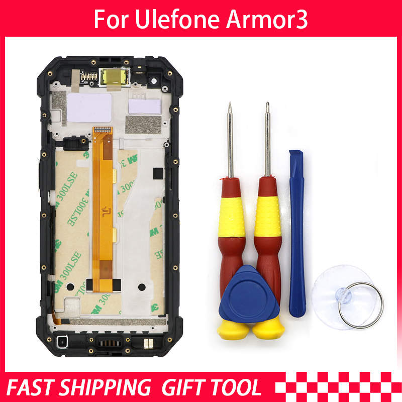 Touch Screen LCD Screen LCD Display For Ulefone Armor 3/Armor 3T Digitizer Assembly With Frame Replacement Parts+Repair Tool