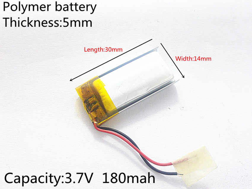 3.7V 180mAh 501430 Lithium Polymer Li-Po li ion Rechargeable Battery cells For Mp3 MP4 MP5 GPS PSP mobile bluetooth best battery brand wholesale 041020 3 7v 80mah lithium polymer battery for mp3 mp4 mp5 psp bluetooth earphone