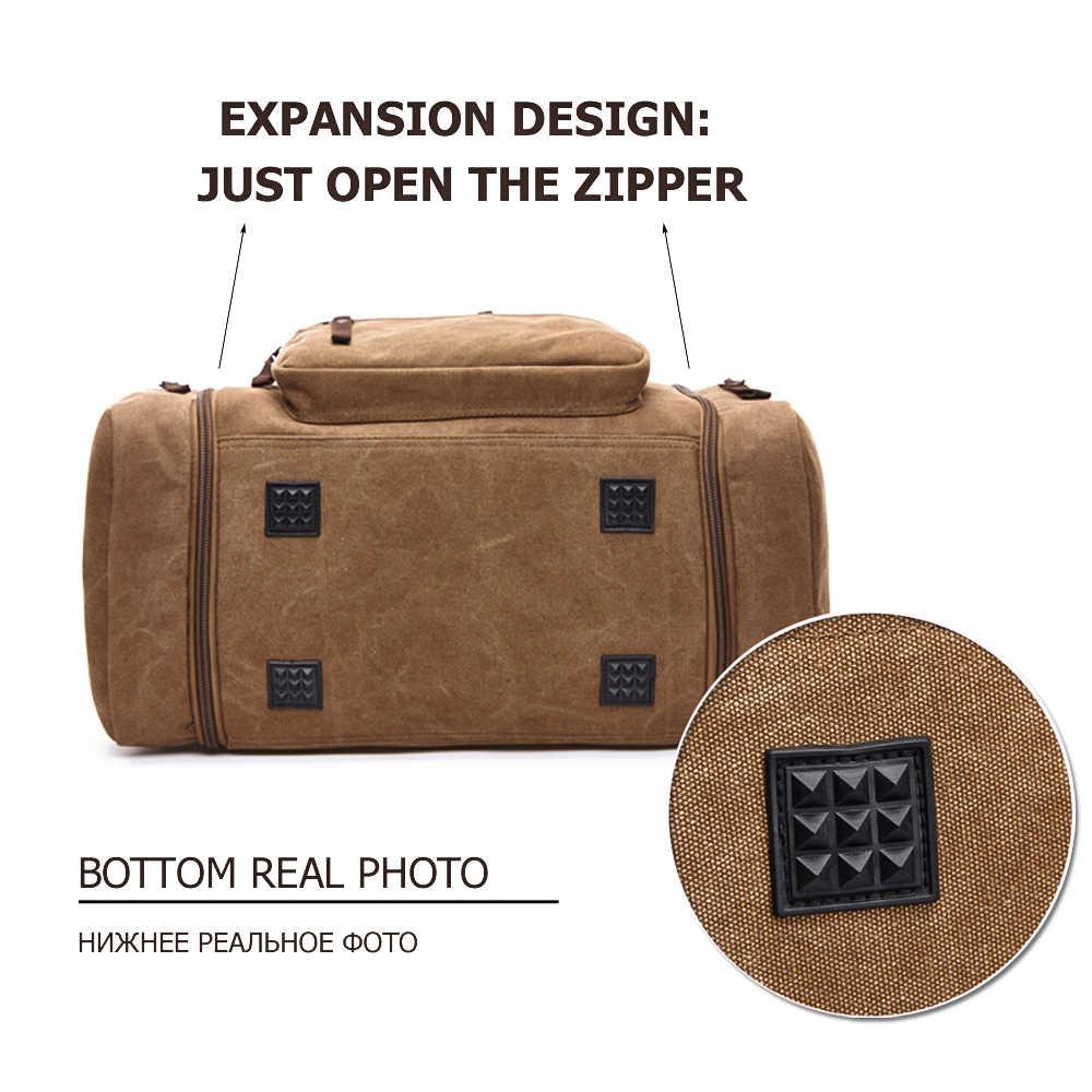 MARKROYAL męskie płótno torba podróżna męskie torby podróżne o dużej pojemności torba podróżna Carry on Crossbody torba nocna Dropshipping