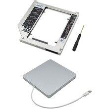 Новое Прибытие Внешний Жесткий Диск Корпус HDD Caddy 9.5 мм SATA 3.0 + SATA USB 2.0 Superdrive Для Macbook Air Pro