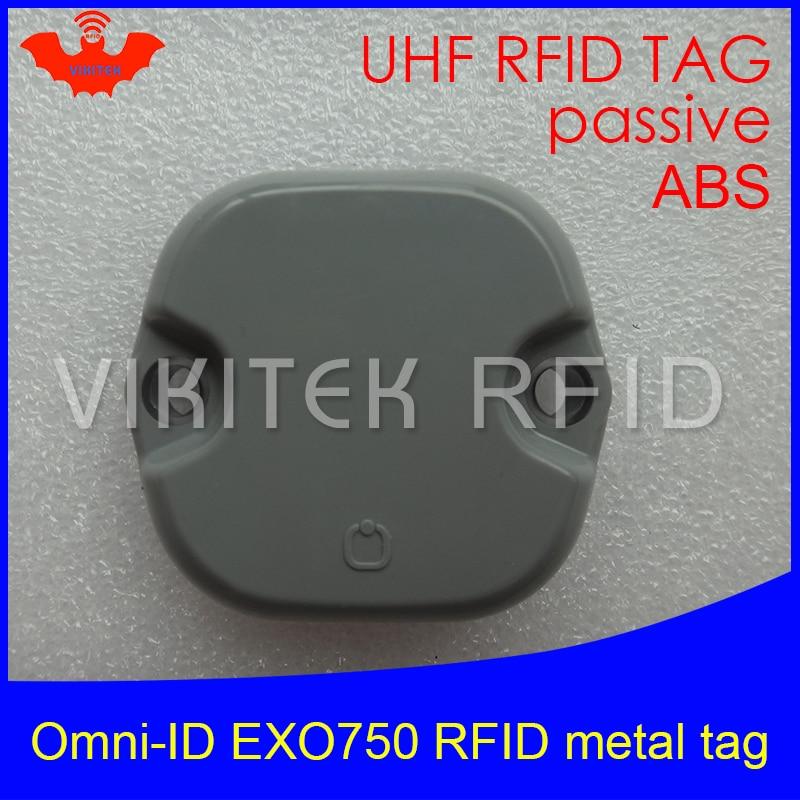 UHF RFID Anti-metal Tag Omni-ID EXO 750 EXO750 915mhz 868mhz Impinj Monza4QT EPCC1G2 6C Durable ABS Smart Card Passive RFID Tags
