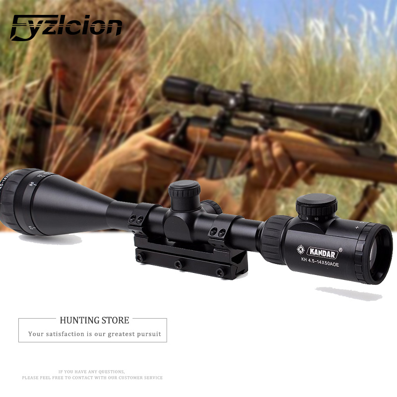 4.5-14x50 AOE Hunting Riflescope Red Special Cross Reticle Sniper Optic Scope Sight FOR Rifle One Piece 11mm or 20mm Ring kandar 4 5 14x50 hunting riflescope red special cross glass reticle sniper optic scope sight for rifle with 11mm or 20mm mount