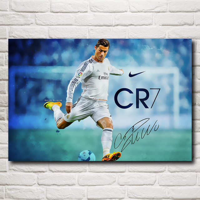 Soccer Player Cristiano Ronaldo Art Silk Fabric Poster Print Football Pictures Home Painting 12×18 24×36 Inch