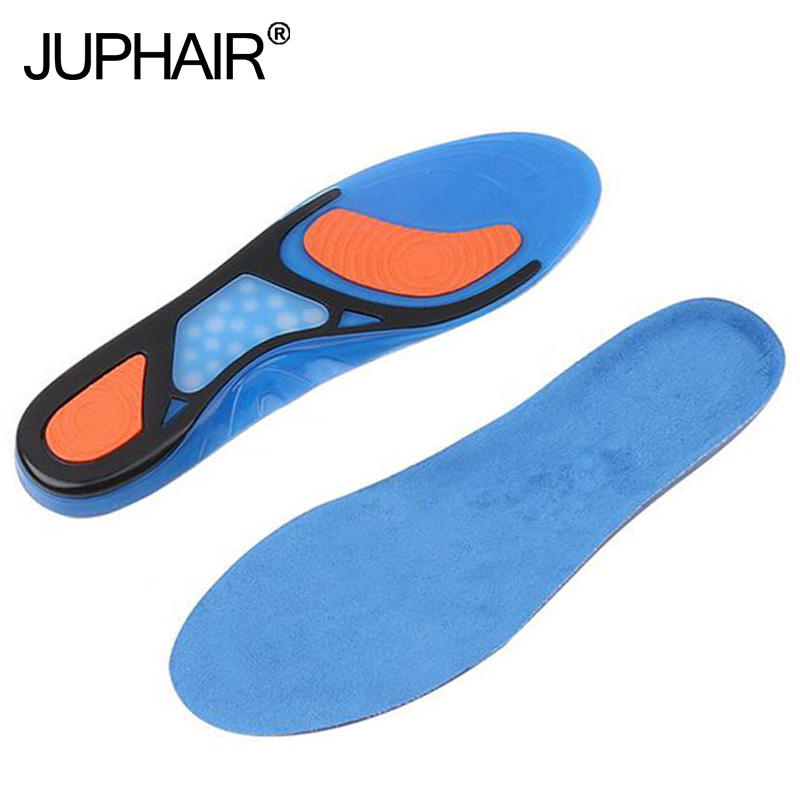JUP3 Pairs Silicon Gel Can be Cut Insoles Shock Absorption Soft Comfortable Insole Men Women SportsMale Elastic Shock Absorption