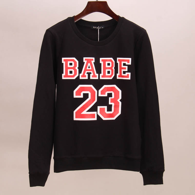 Sakura sweatshirt hoodies women BABE 23 printed tracksuits suits tees women woman tops t ...