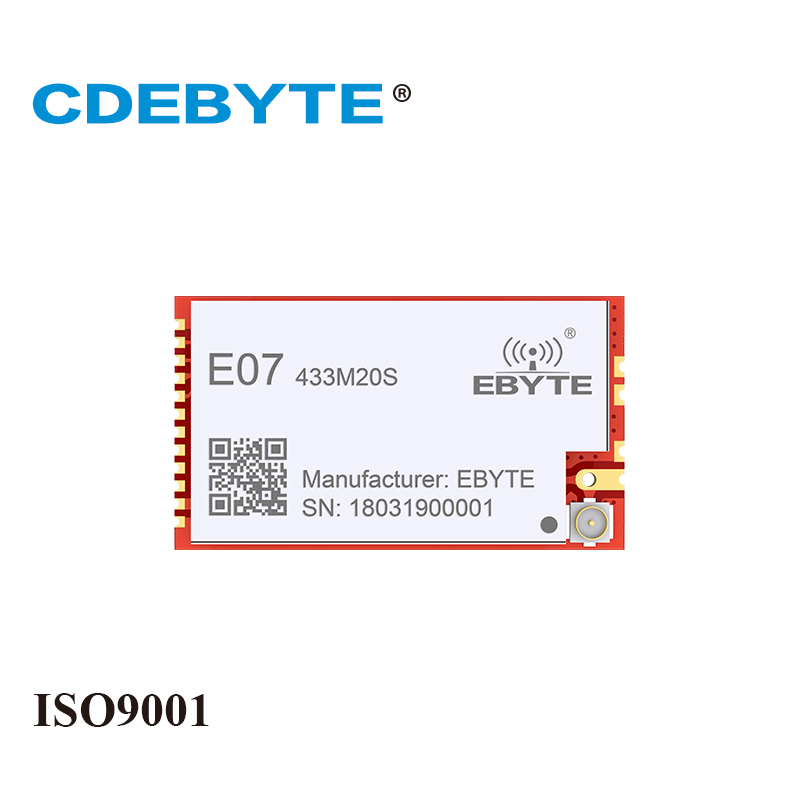 E07-433M20S CC1101 20dBm 433MHz Stamp Hole IPEX Antenna CDEBYTE 100mW SMD Wireless IoT Transceiver 433 MHz