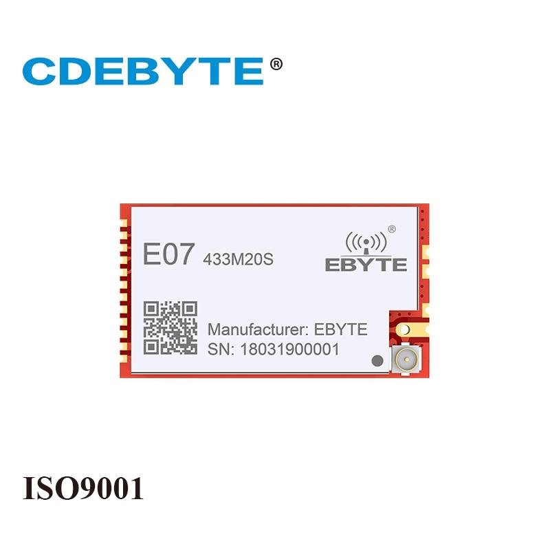 E07-433M20S CC1101 20dBm 433MHz Stamp Hole IPEX Antenna CDEBYTE 100mW SMD Wireless IoT Transceiver 433 MHz