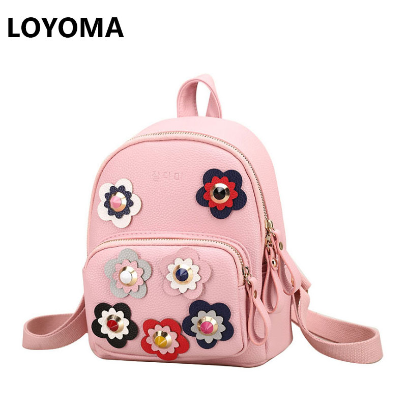 2017 Summer Women Backpack Printing Flower Bag Rucksack Female Korean School Bags for Teenagers Girls Small