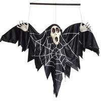 Creepy Sound Control Animated Skeleton Ghost Scary Spider for Haunted House Halloween Party Decoration