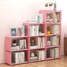 DIY модная книжная полка, легкая установка, книжная полка для хранения книг, детский комбинированный книжный шкаф, креативная домашняя мебель для украшения