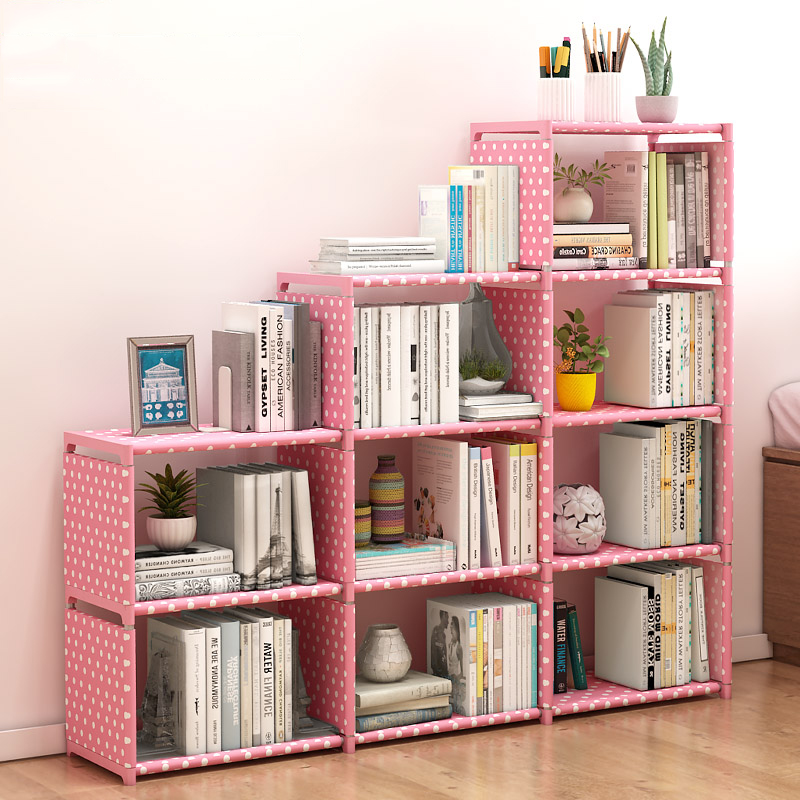 DIY Fashion Bookshelf Easy Installation Books Storage Shelf Kids Combination Bookcase Creative Home Furniture For Decoration