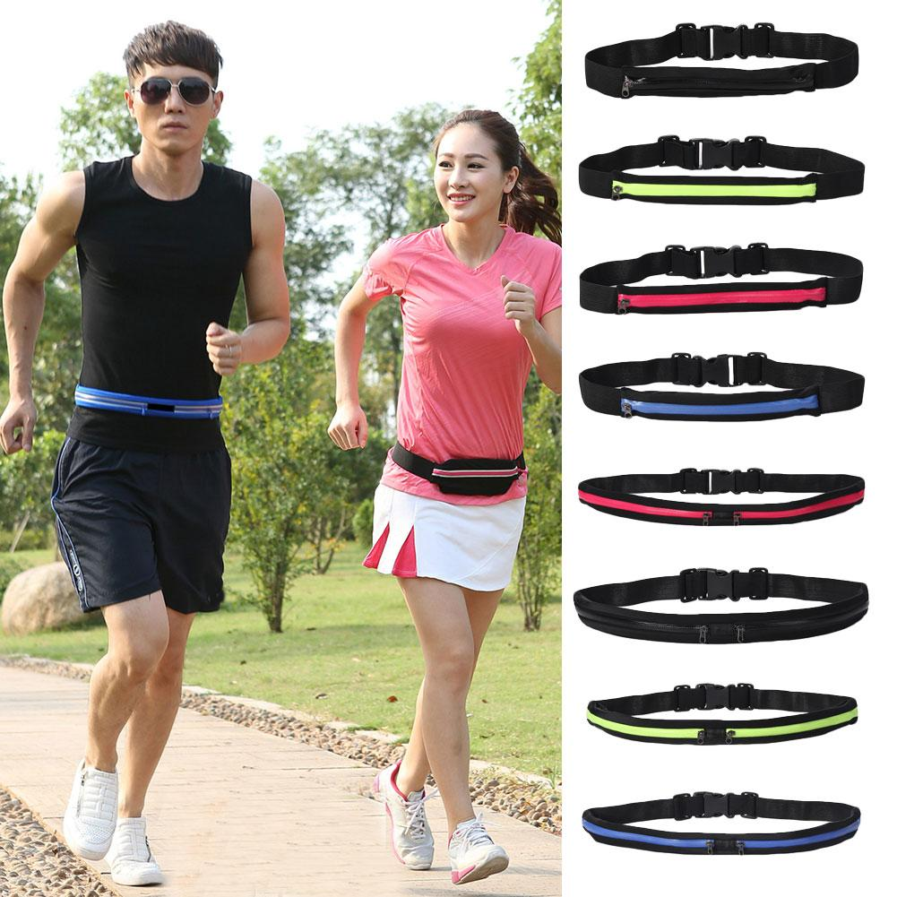 Portable Outdoor Sports Cycling Elastic Waist Bum Bag Fitness Running Jogging Waist Pocket Phone Anti-theft Pack Pouch Belt