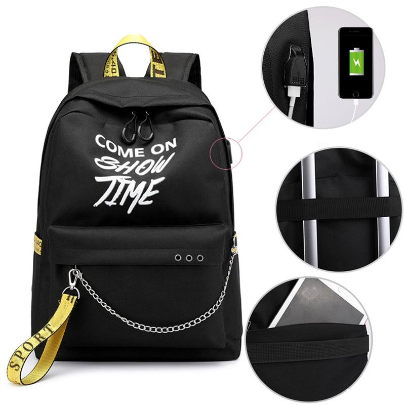 HTB1hrawXtfvK1RjSspfq6zzXFXaO Winmax Luminous USB Charge Women Backpack Fashion Letters Print School Bag Teenager Girls Ribbons Backpack Mochila Sac A Dos