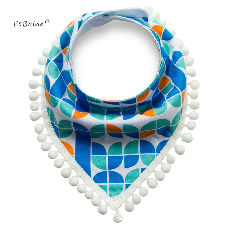 E&Bainel New Fashion Triangle Cotton Towel Baby Bibs Slobber Double Baby Burp Cloth Cartoon Saliva Towel Childrens Accessories