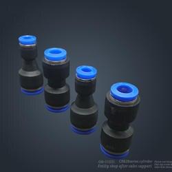 Бесплатная Доставка 10 шт. PG6-4 неравные Диаметр воздуха фитинг прямой союз, One Touch Push в пневматический штуцер Разъемы