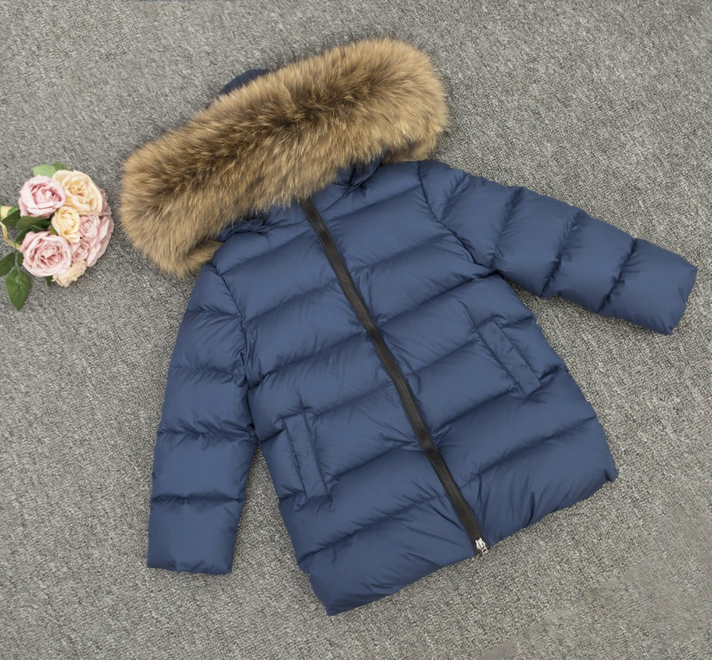 a new style of 2017 winter parks for girls and boys, with the nature of the raccoon fur winter jacket for girls winte