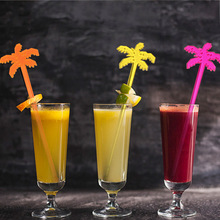 500pcs Plastic Swizzle Sticks Coconut tree Cocktail Picks Bar Accessories Party Nightclub Decor For Wholesale