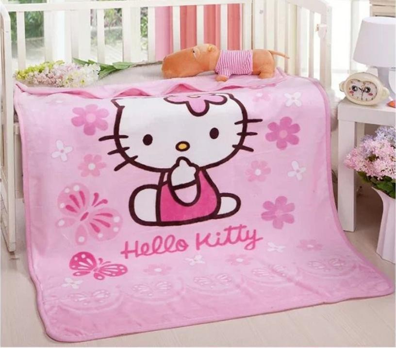 0489df8b88 ... Quilt 100 140cm Hello kitty Cartoon Characters Blankets Wholesale.  Material coral fleece. size 100 140cm. season four seasons. soft and  comfortable