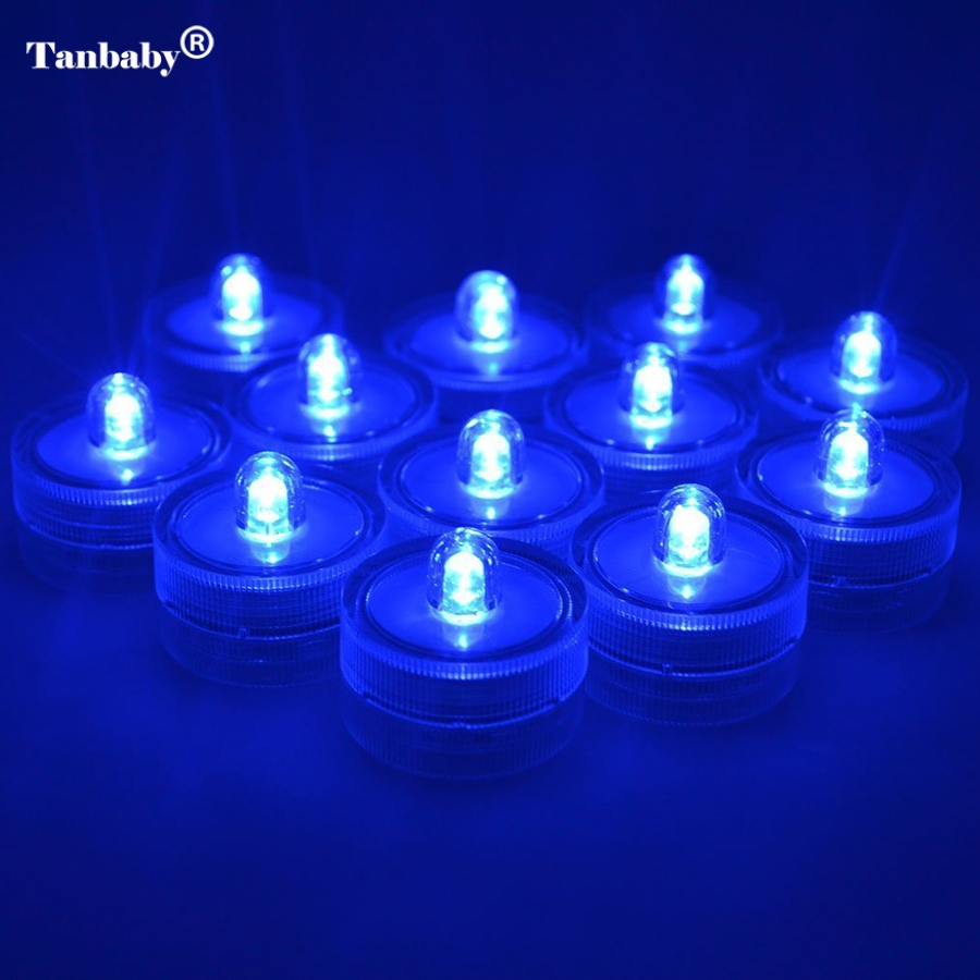 Tanbaby Waterproof Led Submersible Light 10pcs/lot Wedding LED Candle Sub Tea Light for Decoration Wedding Party Bar Xmas