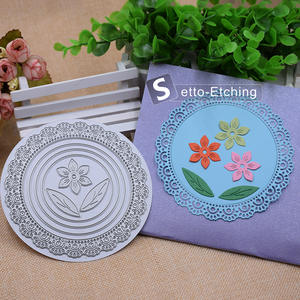 2018 fashion round flower cutting die stencils template embossing fordiy scrapbooking paper card album photo decor painting tool