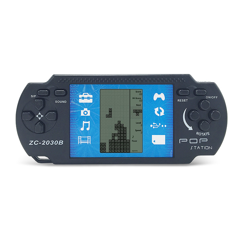 Children Classical Players Retro Portable Tetris Handheld Video Game Console Tetris Kids Gaming Built-in 23 Games Kids Console