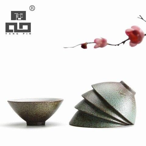 Xícaras de Chá Xícara de Chá em Cerâmica Cerâmica para Puer Jogo de Chá Tangpin para Puer Porcelana Chinesa Kung fu