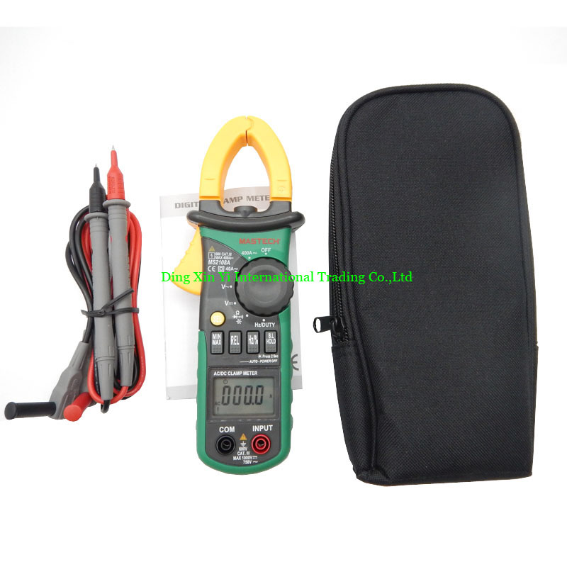 MASTECH MS2108A Auto range Digital Clamp Meter Multimeter DC AC Current Voltage Frequency Meter Tester with Backlight  цены