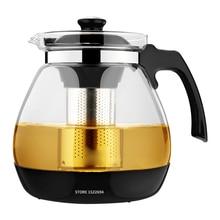 Optional Teekanne 1.6L & 2.3L Mode Glas Teekanne Pro Design für Tee Blume mit Abnehmbare Stahl Infuser Filter Premium Tee Kettl