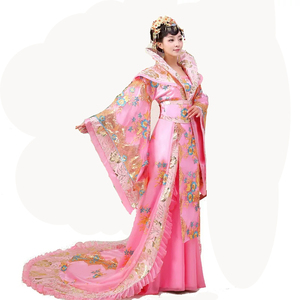 Image 2 - High Quality Designer Chinese ancient Tang dynasty queen Tailing Costume Guzheng Show Clothing Women Hanfu Chinese Photography