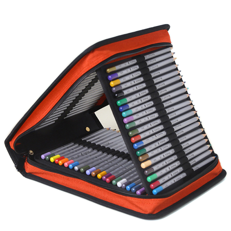 120 Holders Handy Oxford Cloth School Pencils Case Large Capacity Colored Pencil Bag For Student Gift Art Supplies large capacity pencil case canvas 120 slots 4 layers school pencil bag art marker pen holder coloring pencils organizer