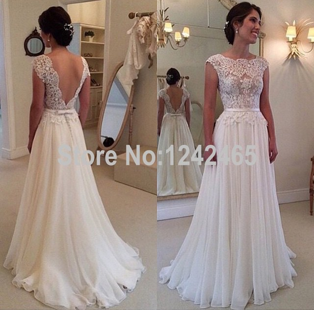 aliexpress buy low back appliqued cheap wedding dresses