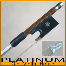 Pernambuco Violine Bogen mit mit Gestaltete Silber Spitze (4/4), Freies verschiffen! Gute balance von stärke und flexibilität.