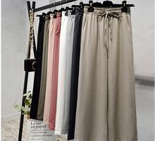 Women Spring Cotton linen Pants 2019  Pockets Trousers Casual Solid Color Vintage plus size