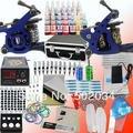Ee.uu. almacén completo principiante Kit de tatuaje 2 ametralladoras 28 tintas Grips Needles fuentes de alimentación equipos Set ( ee.uu. Stock ) K103