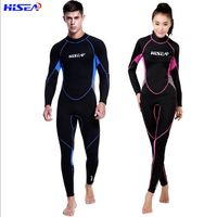HISEA 3mm Diving Suit Couple Long Sleeve Pants Warm and Thicker Swimming Suit Diving Suit Zipper Jellyfish Surfing