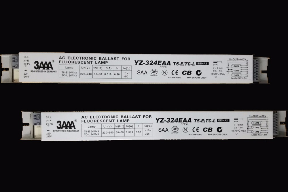 1pc 3AAA YZ-324EAA AC Electronic Ballast Rectifiers for T5HO Fluorescent Lamp T5-E TC-L 3X24W Aquarium and Advertising Lamp Box 1pc 3AAA YZ-324EAA AC Electronic Ballast Rectifiers for T5HO Fluorescent Lamp T5-E TC-L 3X24W Aquarium and Advertising Lamp Box