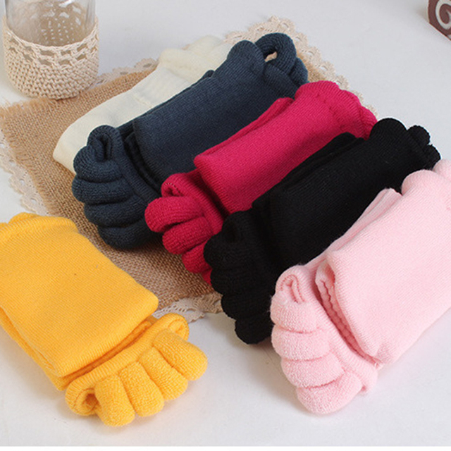 iMucci  Fitness Massage Separator Five Toe Socks Sleeping Fingers Healthy Feet Care Socks Soft Pain Relief Socks 3