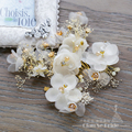 Charm silk flower hair comb+hairgrips girl hairpins rhinestone hair clips crystal bride headpiece wedding accessories qr078