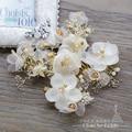 Encanto de la flor de seda + peine del pelo hairgrips chica horquillas pinzas para el cabello rhinestone crystal novia de la boda celada accesorios qr078
