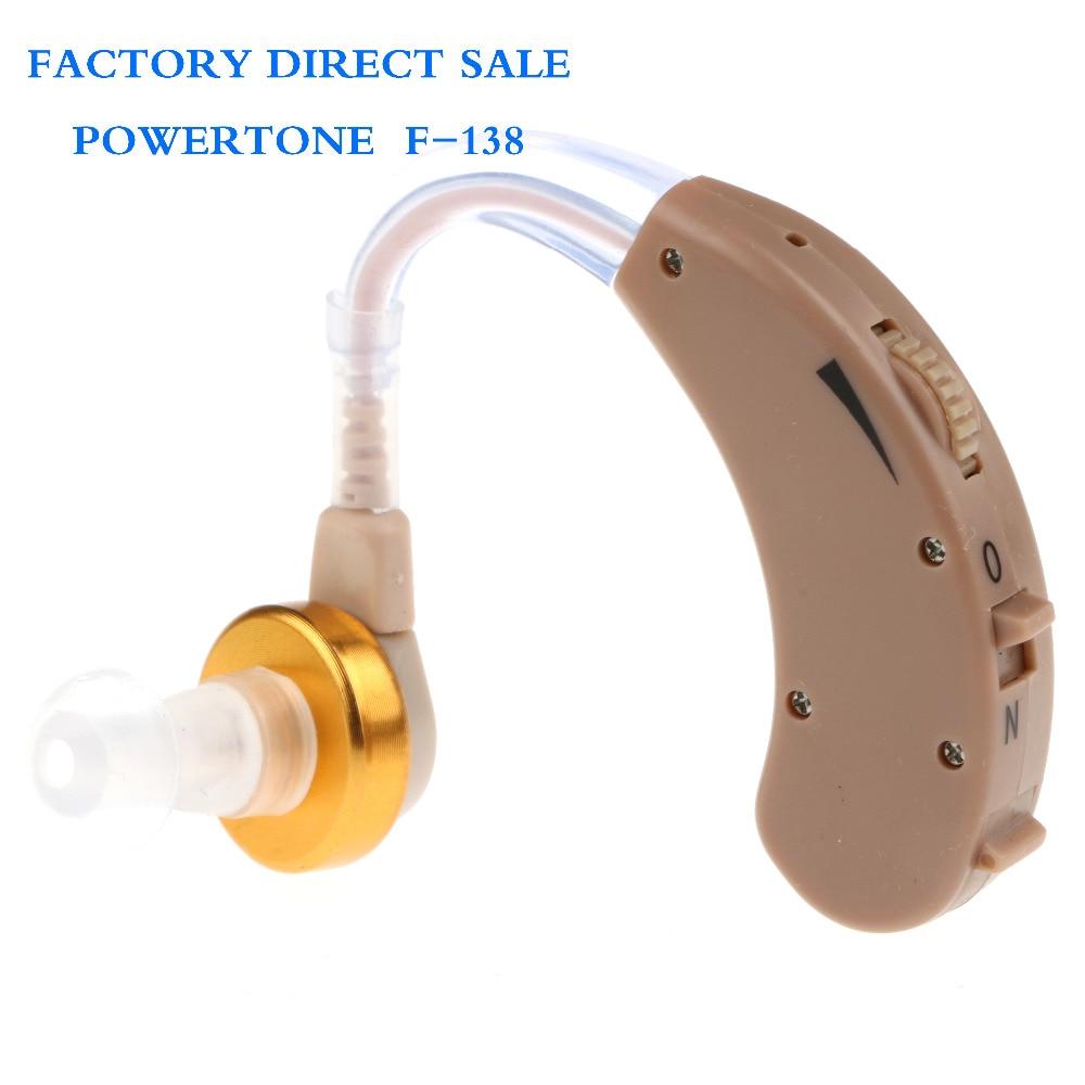 Pengiriman gratis alat bantu dengar, F-138 POWERTONE penguat suara, Perangkat mini, Sordos penguat telinga, Pabrik penjualan langsung 100 set / lot
