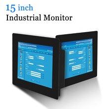15 VGA DVI HDMI Monitor del PC del Metallo Borsette Industriale Touch Screen Resistivo USB Touch Screen Monitor di Computer