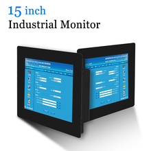 15 VGA DVI HDMI Monitor do komputera metalowa obudowa przemysłowy rezystancyjny ekran dotykowy ekran dotykowy USB Monitor komputerowy