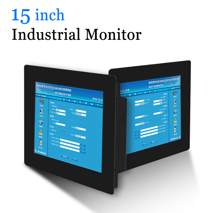 15 VGA DVI HDMI PC Monitor Metal Shell Industrial Resistive Touch Screen USB Touch Screen Computer Monitor-in LCD Monitors from Computer & Office
