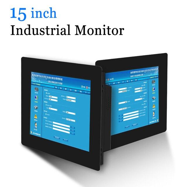 15 VGA DVI HDMI PC Monitor โลหะอุตสาหกรรม Resistive Touch Screen USB Touch หน้าจอคอมพิวเตอร์
