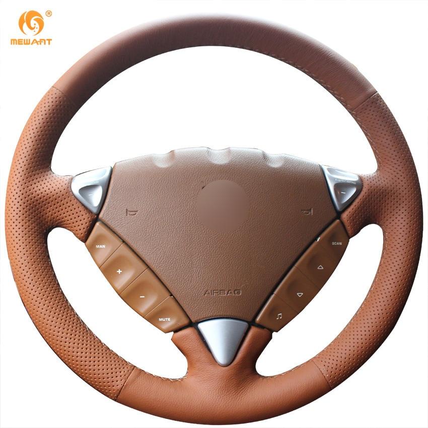 MEWANT коричневый Натуральная кожа рулевого колеса автомобиля крышки для Порше Кайен 2007-2010