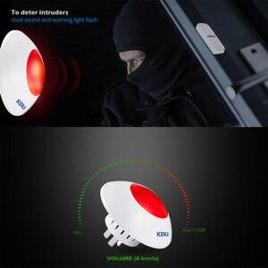 Image 3 - KERUI 433MHz 110dB ボリューム調整可能なワイヤレス警報サイレンフラッシュホーン赤色光警報キットのスーツ警報システム