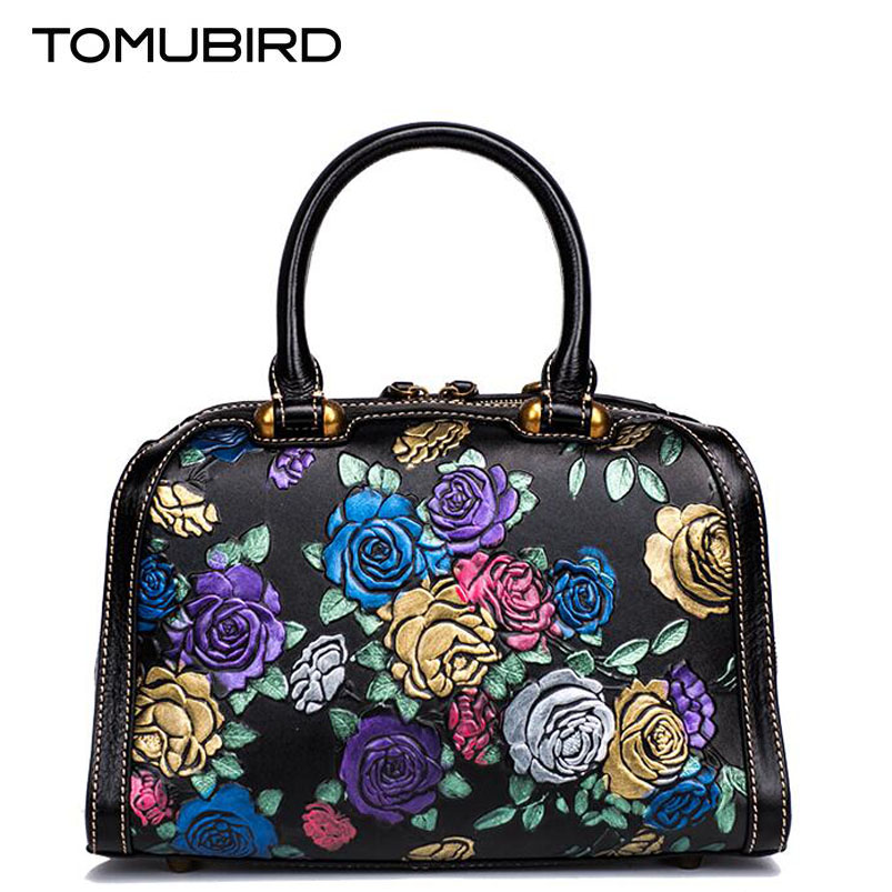 Tomubird 2017 new Chinese wind hand bag Retro National Style Painted Leather Handbag Fashion small square package