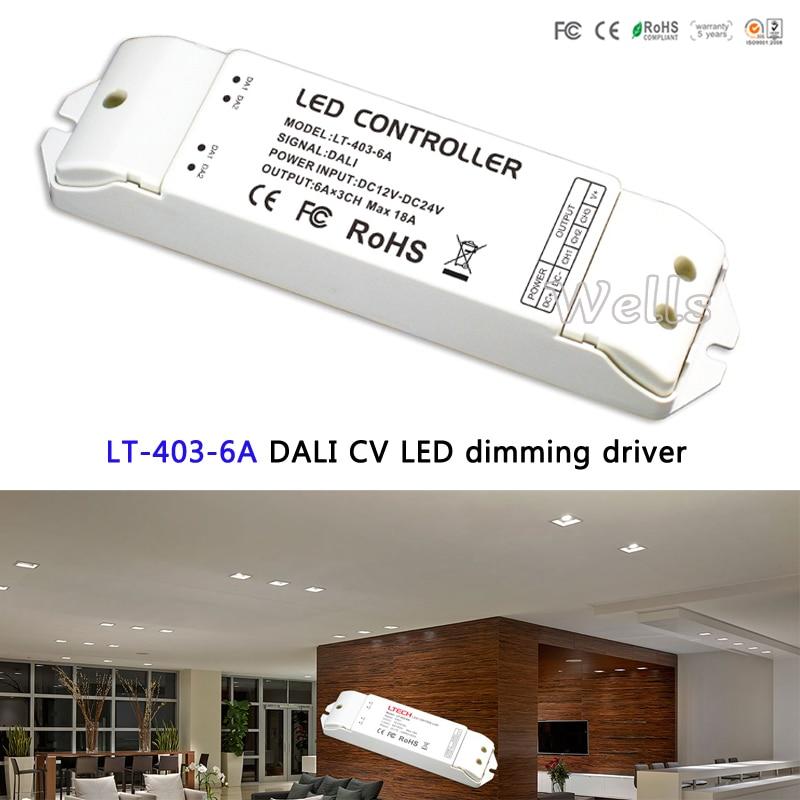 LTECH DALI LED Dimming Driver;LT-403-6A;DC12-24V input;6A*3CH Max 18A output led controller for RGB led strip лазерный нивелир ada cube 3d professional edition
