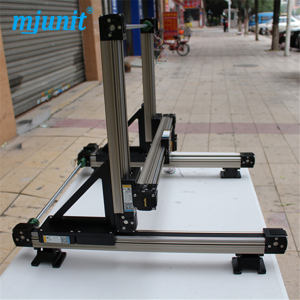 High Strength Motorized Linear rail 3 axis linear stage long life time use Stepping Motor Drive/Servo Drive guideways linear axis with toothed belt drive belt drive linear rail reasonable price guideway 3d printer linear way